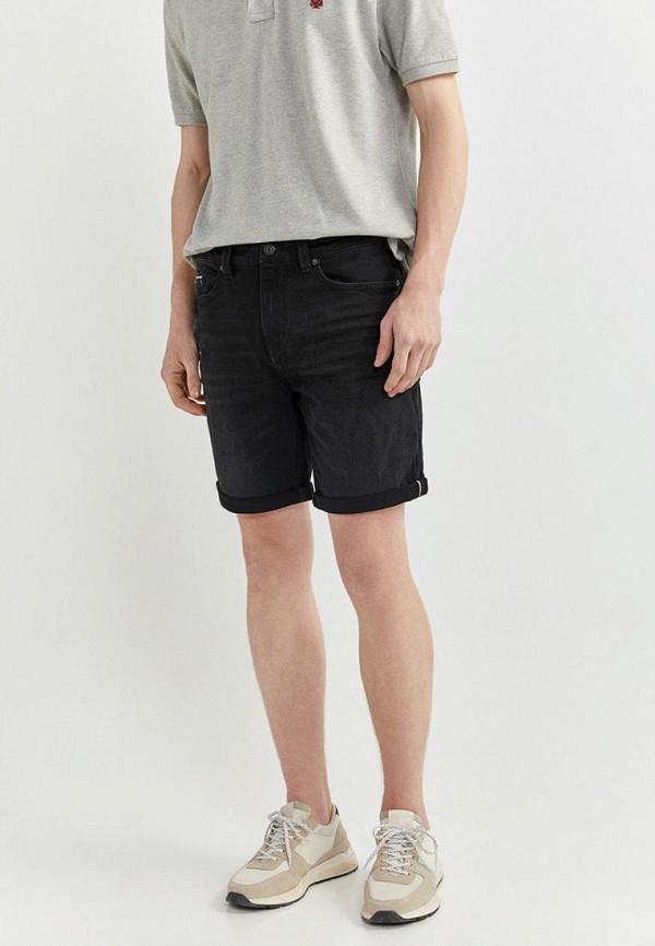 мужские джинсовые шорты springfield, черные