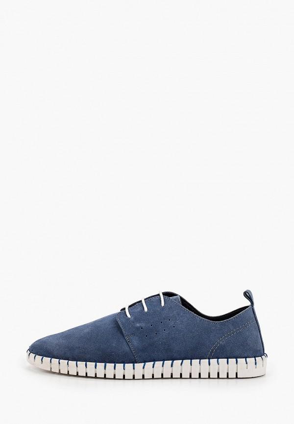 мужские туфли-дерби riveri, синие