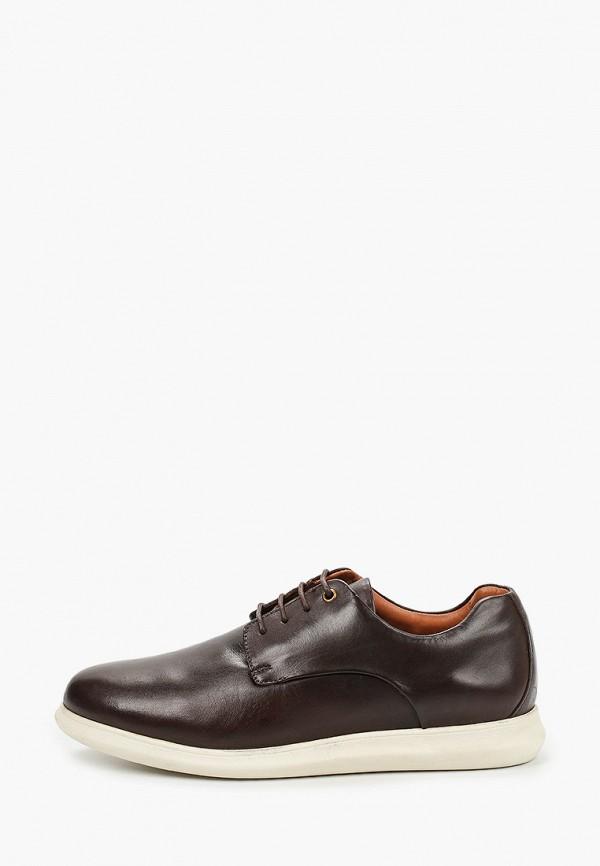 мужские низкие ботинки riveri, коричневые