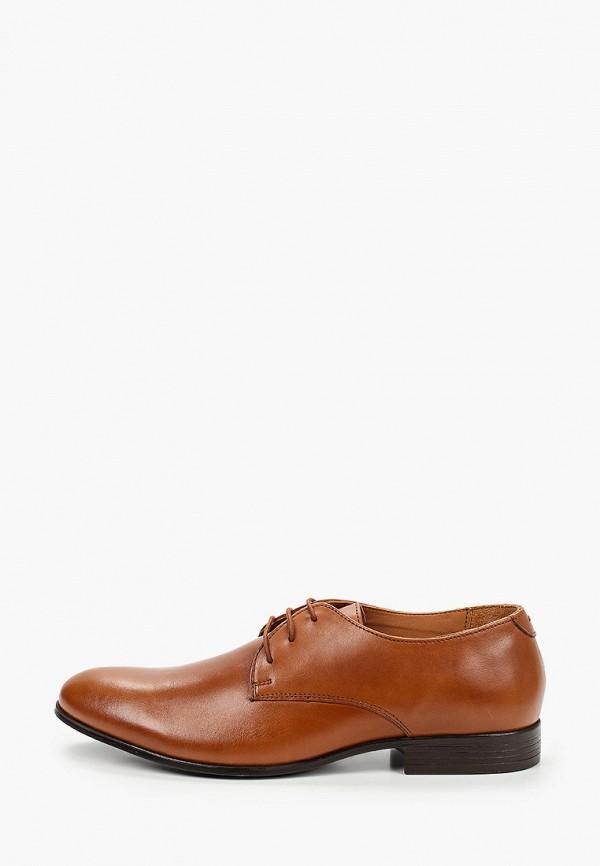 мужские туфли-дерби riveri, коричневые