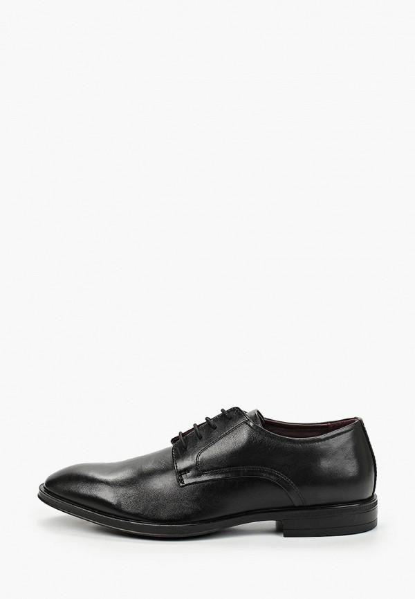мужские туфли-дерби riveri, черные