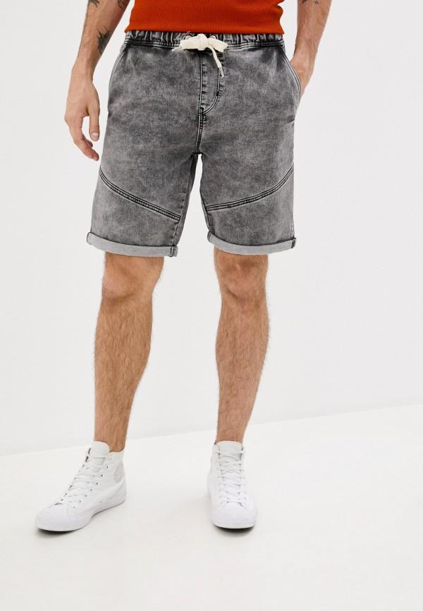 мужские джинсовые шорты ombre, серые