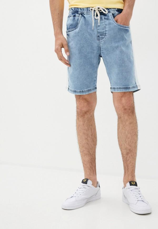 мужские джинсовые шорты ombre, голубые