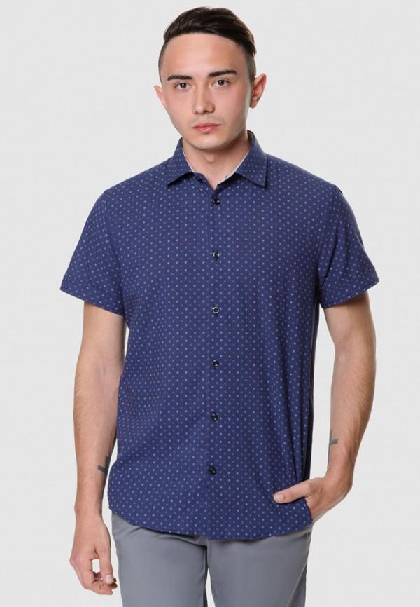 мужская рубашка с коротким рукавом arber, синяя
