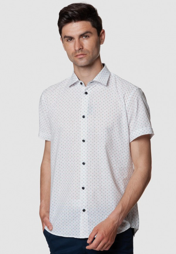 мужская рубашка с коротким рукавом arber, белая