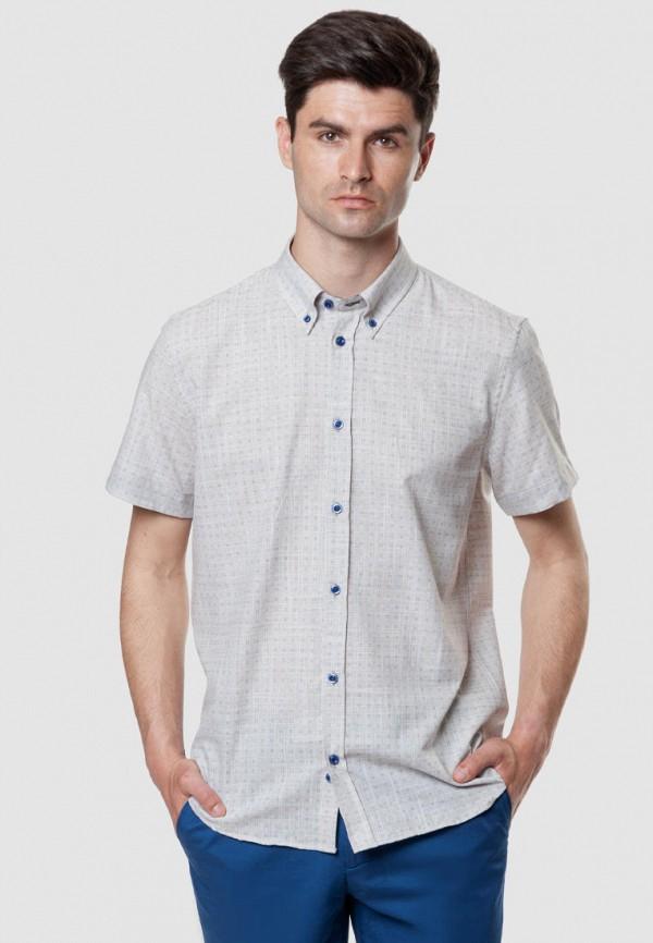 мужская рубашка с коротким рукавом arber, бежевая