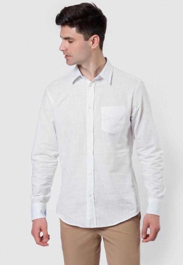 мужская рубашка с длинным рукавом arber, белая