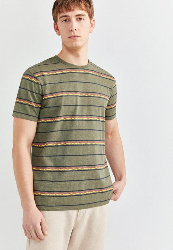 мужская футболка с коротким рукавом springfield, хаки