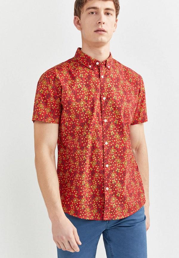 мужская рубашка springfield, красная