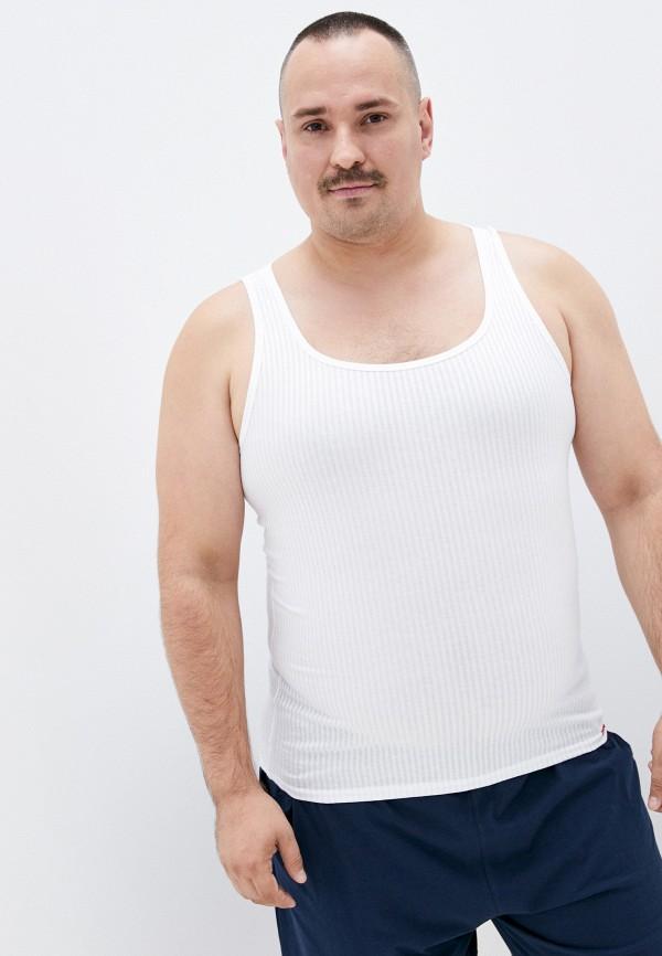 мужская майка body star, белая