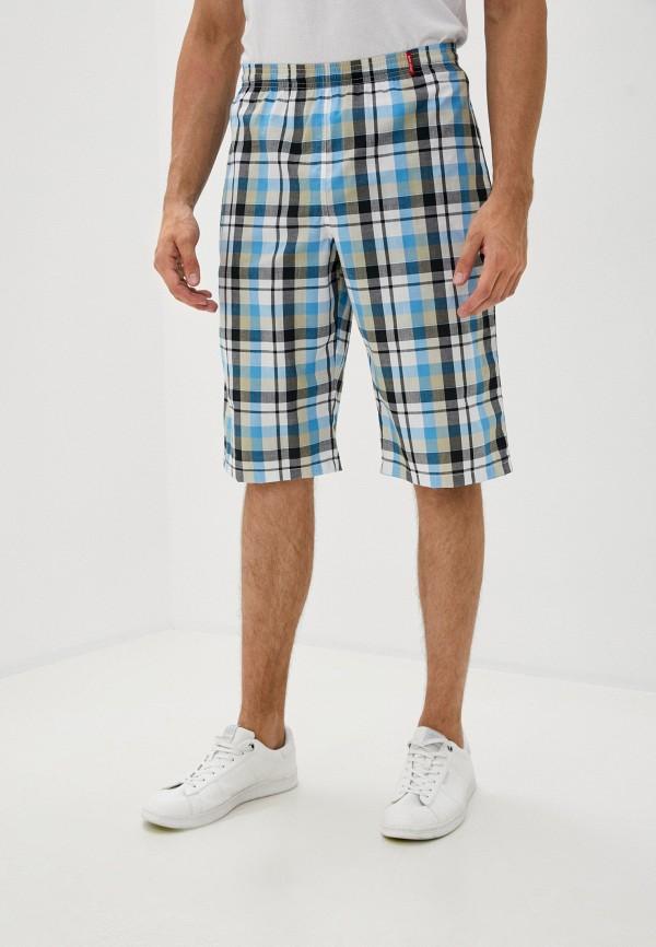 мужские повседневные шорты body star, голубые