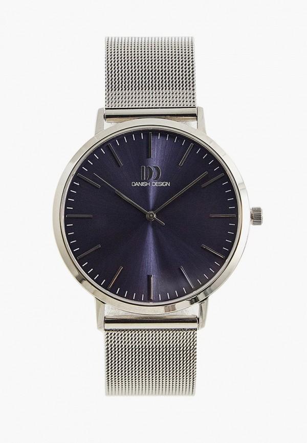 мужские часы danish design, серебряные