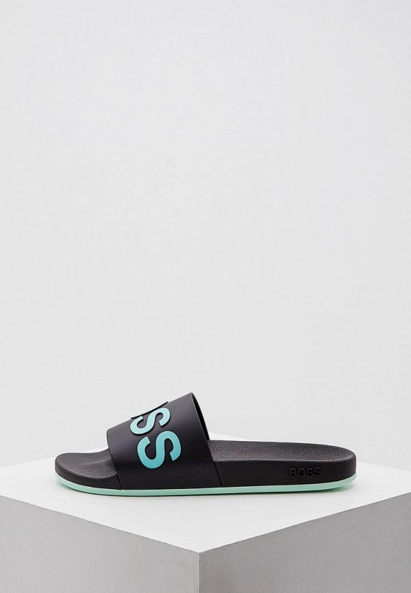 мужские сандалии boss, черные