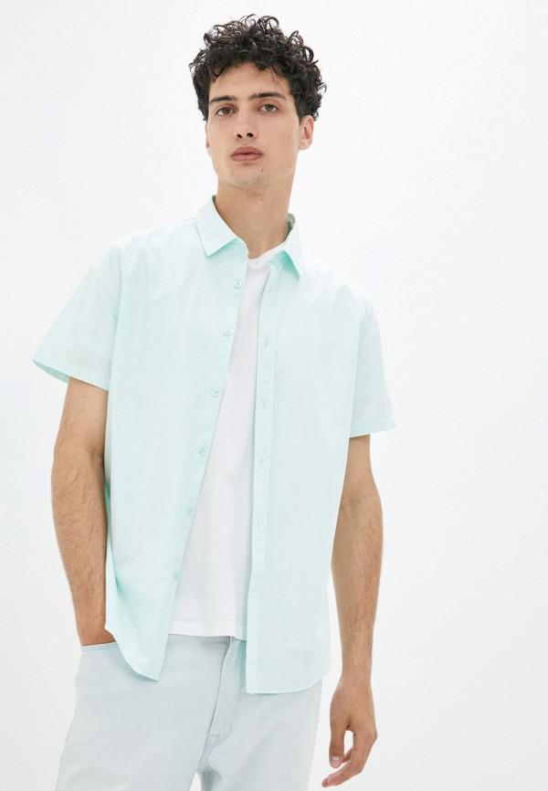 мужская рубашка с коротким рукавом mark formelle, зеленая