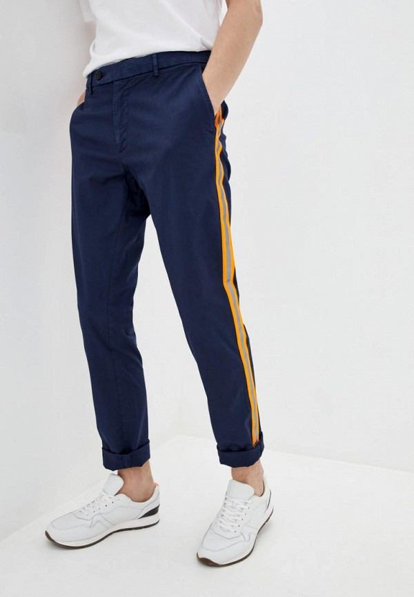 мужские повседневные брюки frankie morello, синие