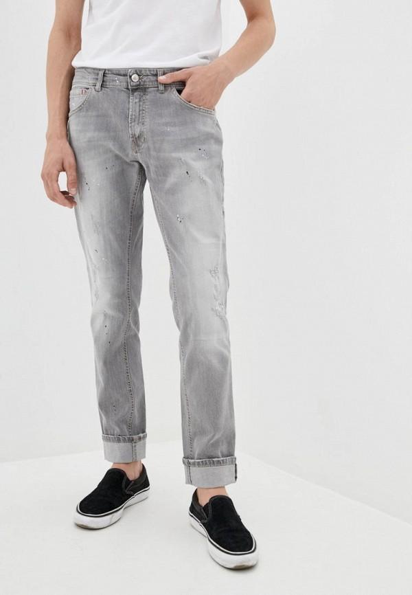 мужские прямые джинсы frankie morello, серые