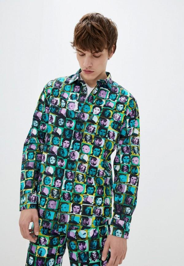 мужская рубашка с длинным рукавом frankie morello, разноцветная
