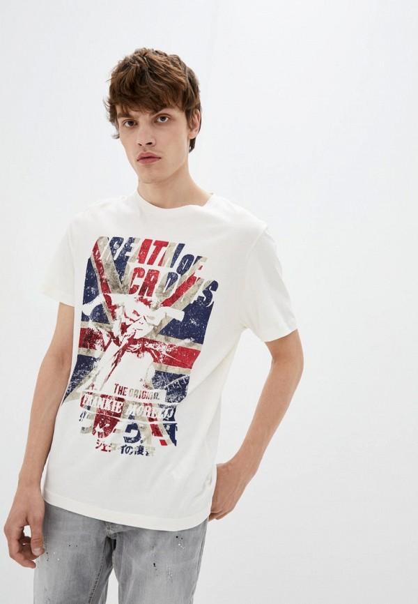 мужская футболка с коротким рукавом frankie morello, белая