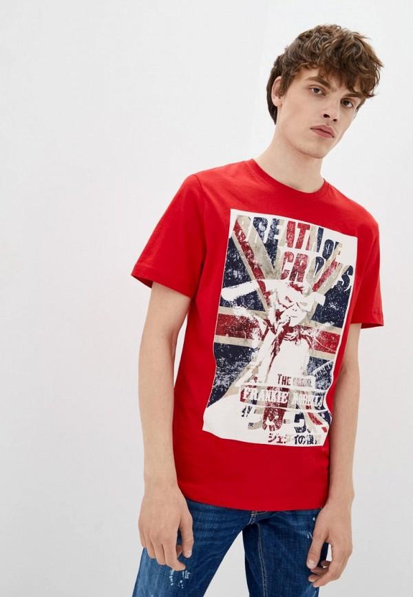мужская футболка с коротким рукавом frankie morello, красная