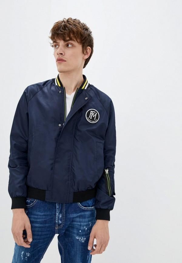 мужская куртка frankie morello, синяя