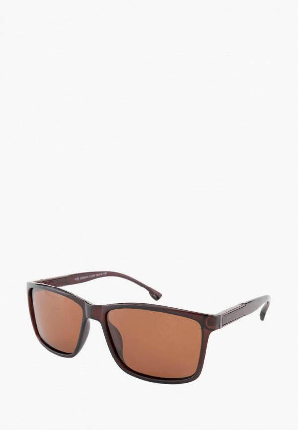 мужские квадратные солнцезащитные очки greywolf, коричневые