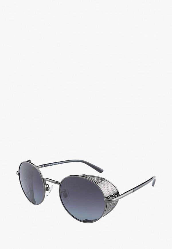 мужские круглые солнцезащитные очки matrix, серебряные