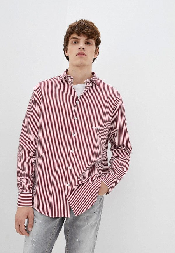 мужская рубашка с длинным рукавом frankie morello, красная