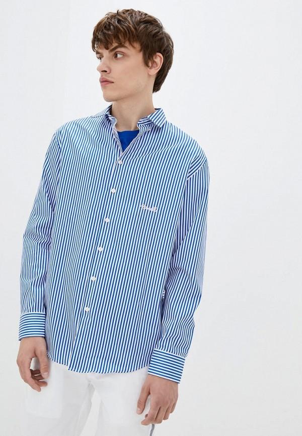 мужская рубашка с длинным рукавом frankie morello, голубая
