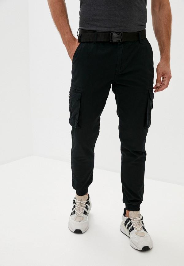 мужские брюки джоггеры defacto, черные
