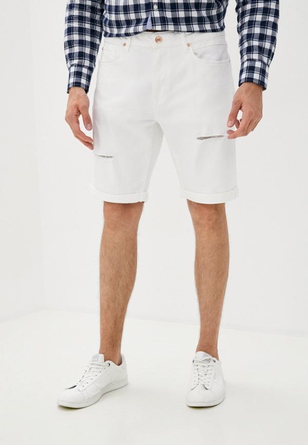 мужские джинсовые шорты colin's, белые