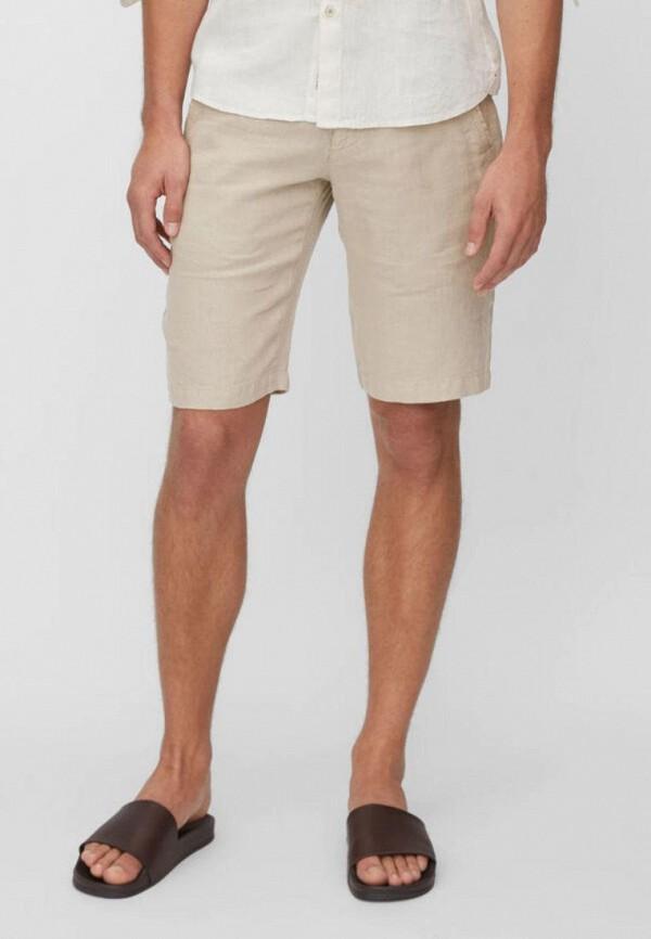мужские повседневные шорты marc o'polo, бежевые