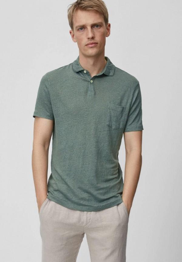 мужское поло marc o'polo, зеленое