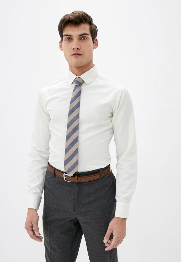 мужская рубашка с длинным рукавом bazioni, бежевая