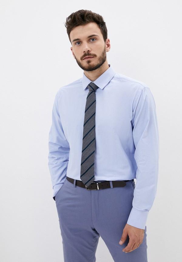 мужская рубашка с длинным рукавом bazioni, голубая