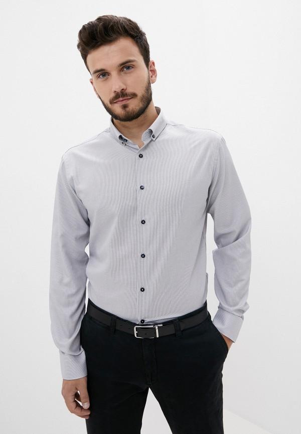 мужская рубашка с длинным рукавом bazioni, серая