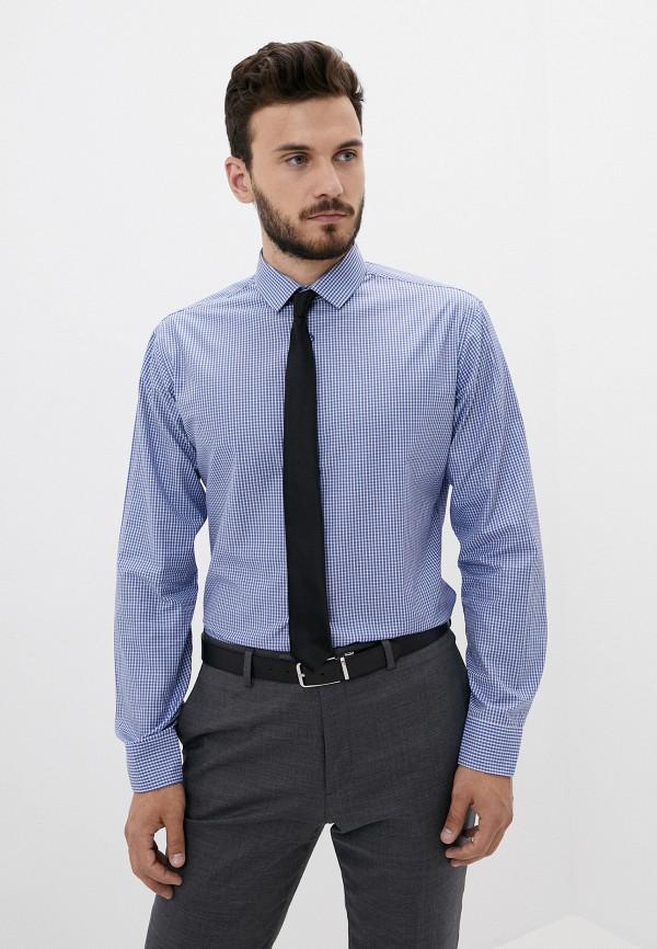мужская рубашка с длинным рукавом bazioni, синяя