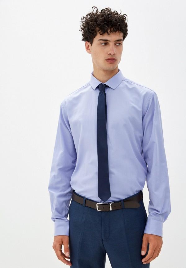 мужская рубашка с длинным рукавом bazioni, фиолетовая
