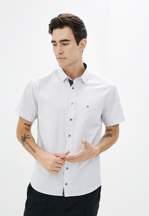 мужская рубашка с коротким рукавом bazioni, белая