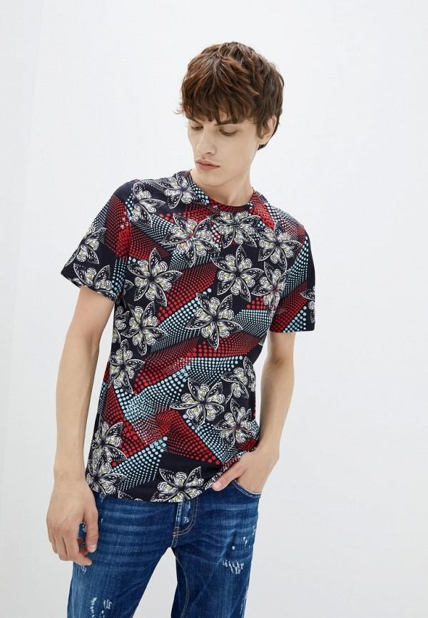 мужская футболка с коротким рукавом frankie morello, разноцветная