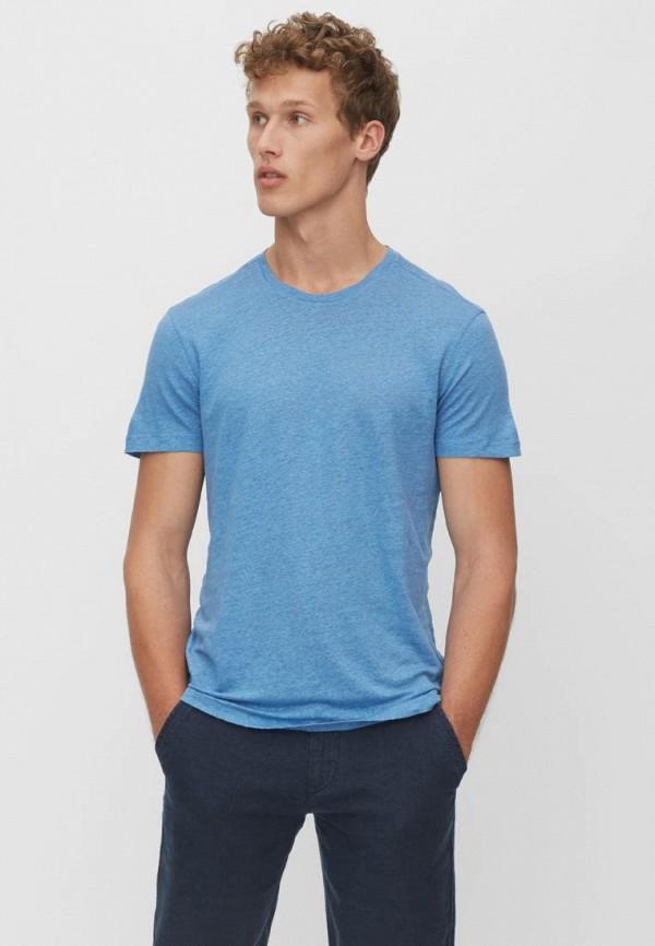 мужская футболка с коротким рукавом marc o'polo, голубая