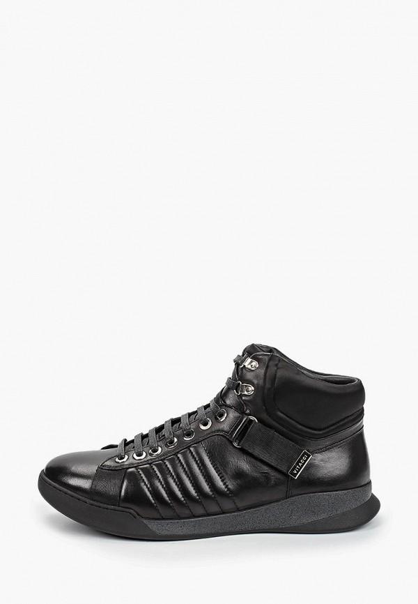 мужские высокие кроссовки vitacci, черные