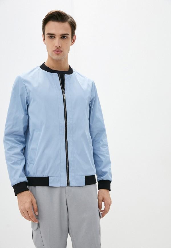 мужская куртка бомбер urban tiger, голубая