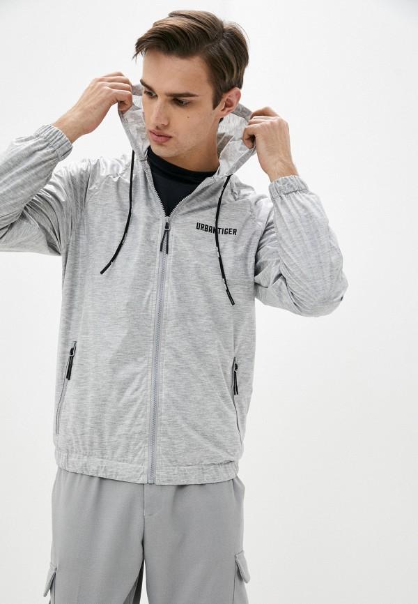 мужская спортивные куртка urban tiger, серая