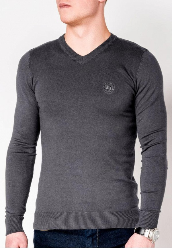 мужской пуловер ombre, серый