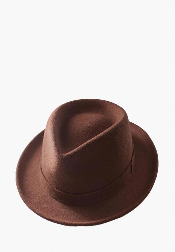 мужская шляпа elegant, коричневая
