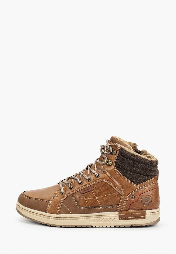 мужские высокие ботинки briggs, коричневые