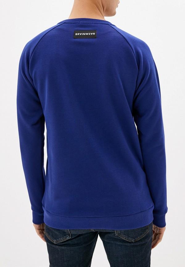 Фото 3 - Свитшот Brainwear синего цвета