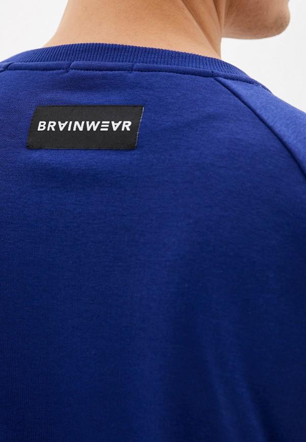 Фото 4 - Свитшот Brainwear синего цвета