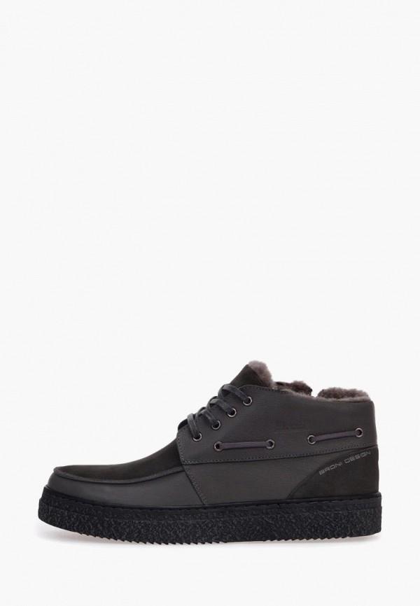 мужские ботинки broni, серые