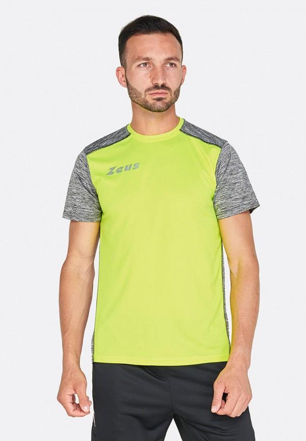 мужская спортивные футболка zeus, желтая